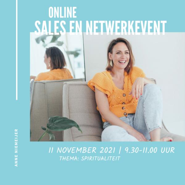 Online netwerk en salesevent 11 november