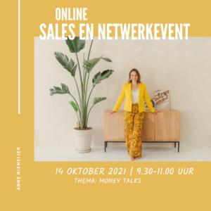 Online netwerk en salesevent 14 oktober