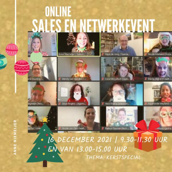 Online netwerk en salesevent 16 december